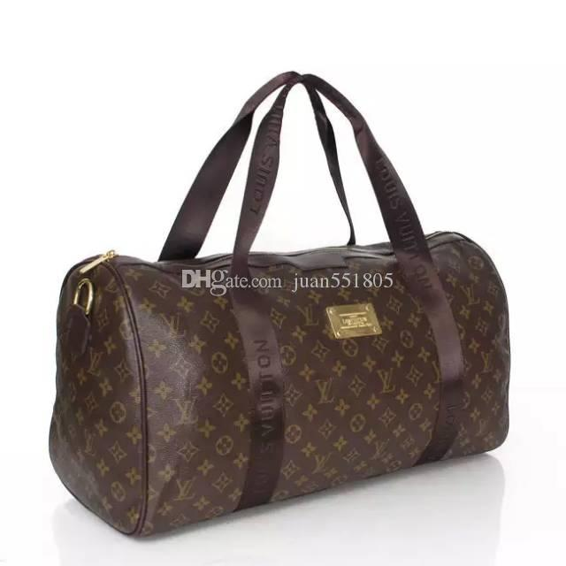 2018 New Fashion Men Women Travel Bag Duffle Bag, Brand Designer Luggage  Handbags Large Capacity Sport Bag 49CM Duffle Bag Sports Bag Luggage Online  with ... edcb454570