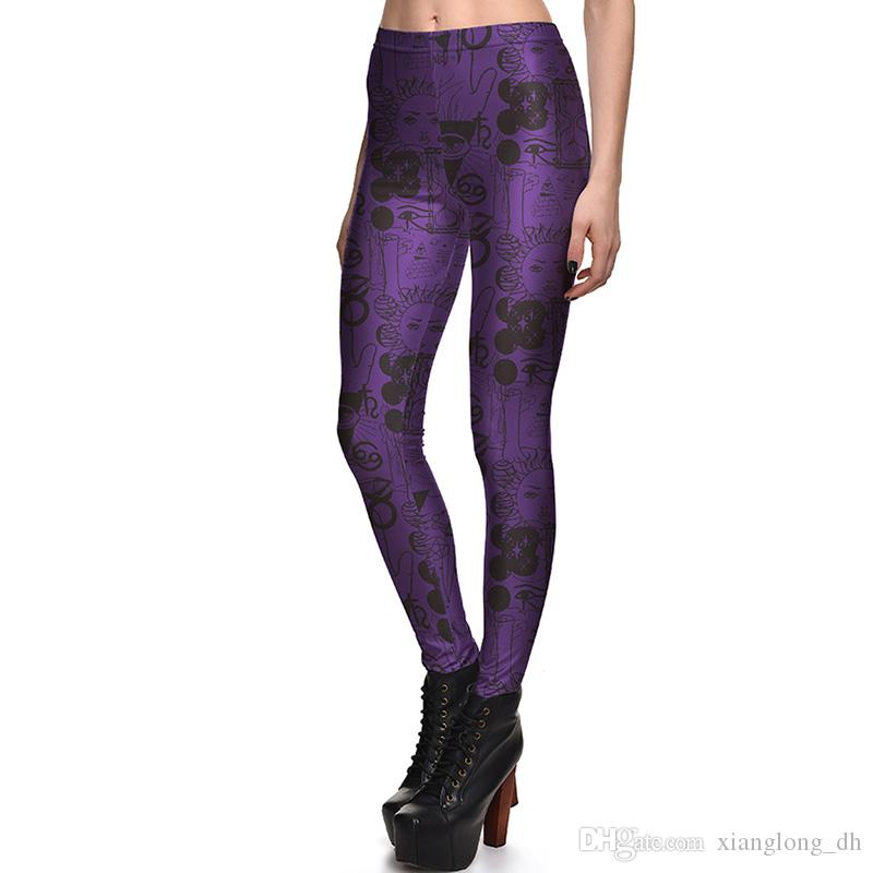 6a3f3fff969 2018 Sexy Girl Women Leggings Plus Size Femme Pencil Pants Scrawl  Spellbound Witchcraft Ouija Prints Slim Elastic Fitness Workout Leggings  3847 From ...