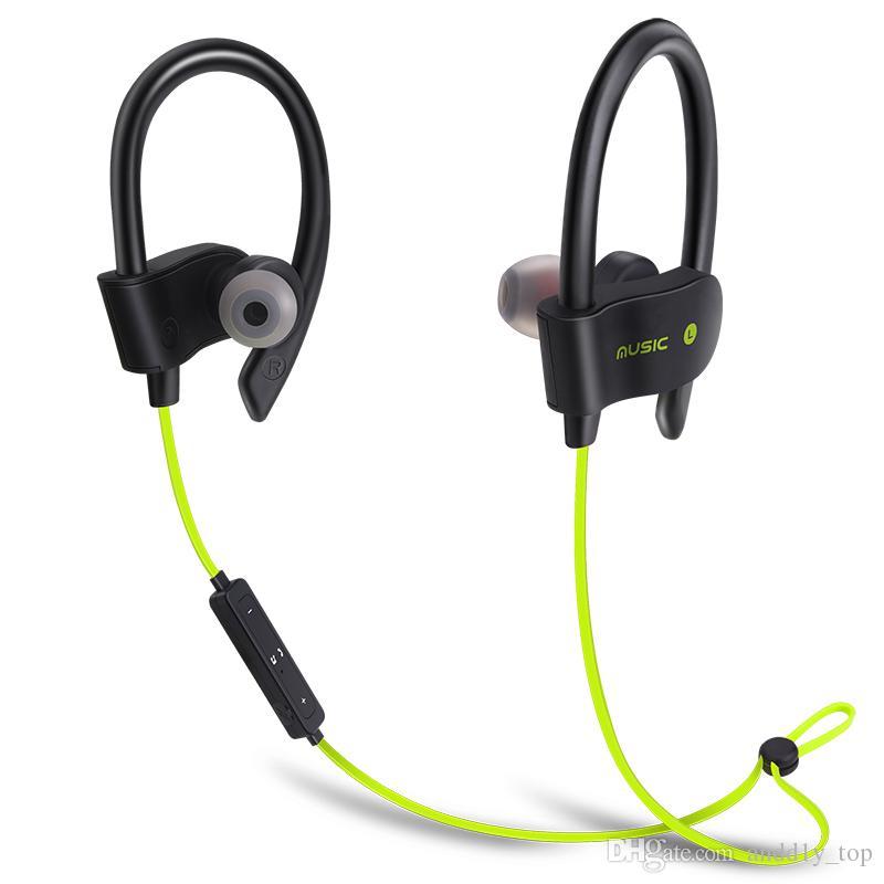 56 s drahtlose bluetooth kopfhörer stereo bass kopfhörer sport headset ohrbügel ohrhörer wasserdichte ohrhörer mit mic