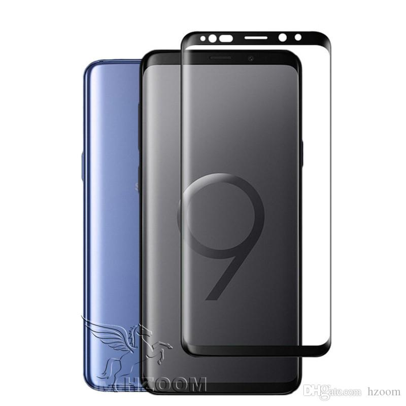 brand new 67f3d 8af3f Best Case Friendly 3D Curved Crystal Clear Tempered Glass Screen Protector  For Samsung Galaxy S9 S8 Plus Note 8 9
