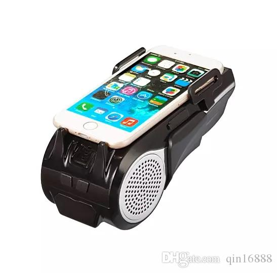 New Portable Speaker Outdoor Bicycle Bluetooth Speaker For Bicycle Mobile Phone Bracket Comes With Music Fast DHL Shipping