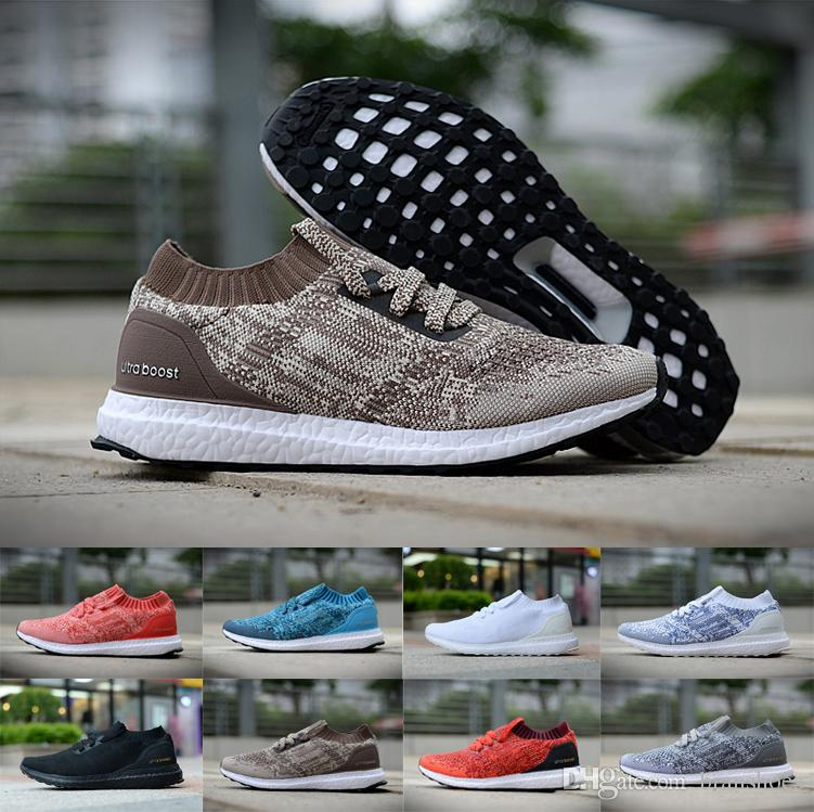 990ce1e88c9 2018 Ultra Boosts Uncaged Rrunning Shoes Triple Black White Red ...