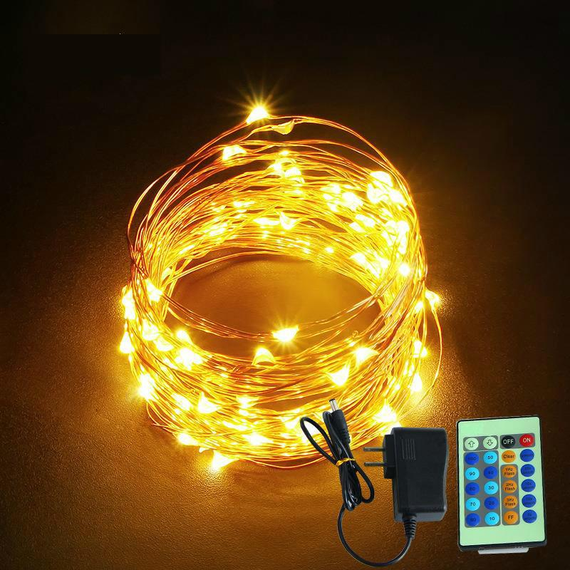 Copper Wire Christmas Lights Decoration Christmas Lights Led Gift Coloured Lights Remote Control Lamp String Rgb Lamp Light Lantern Online With 10 32 Piece
