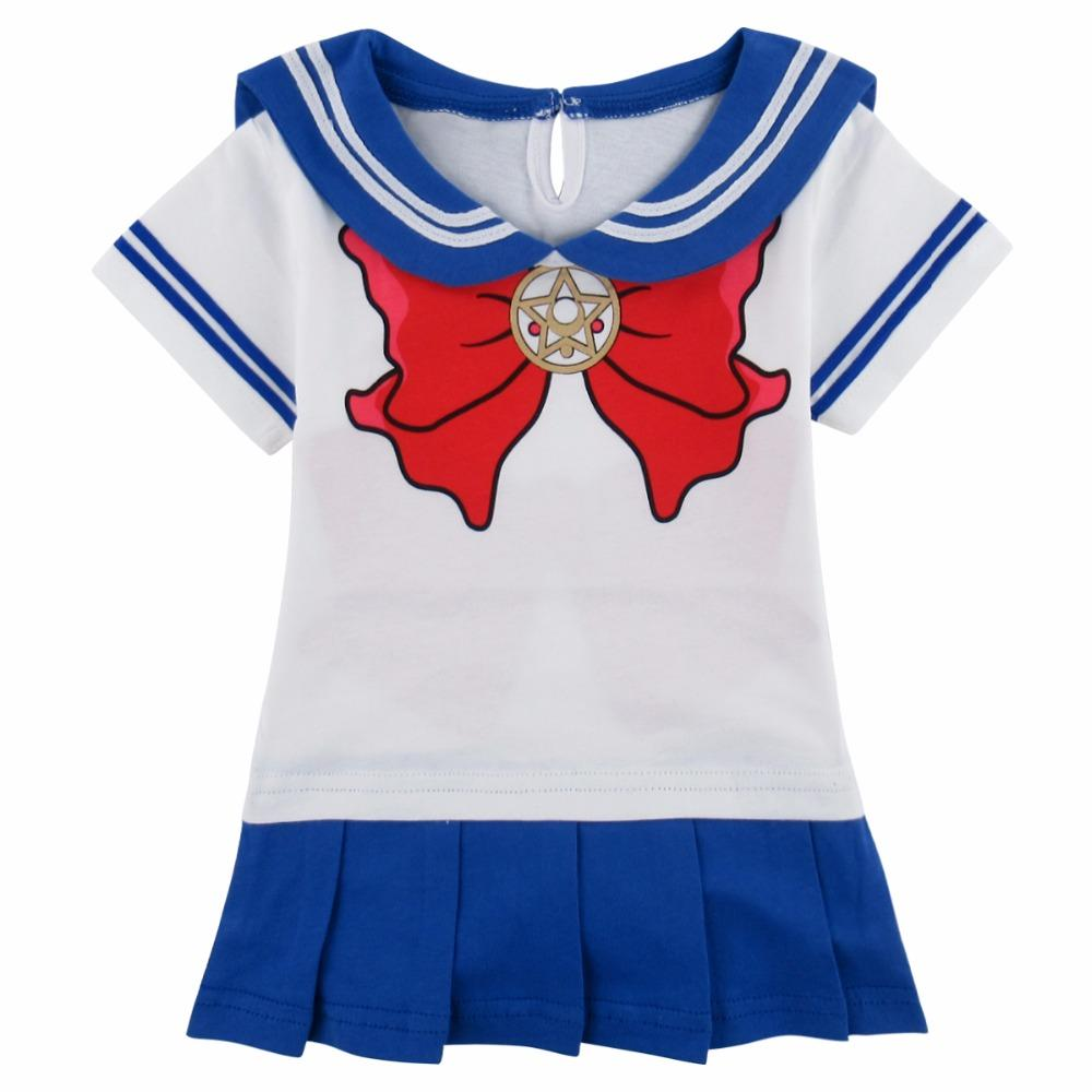 f077504ec188 2019 Baby Girls Sailor Moon Cosplay Bodysuit Japanese Anime Pretty ...