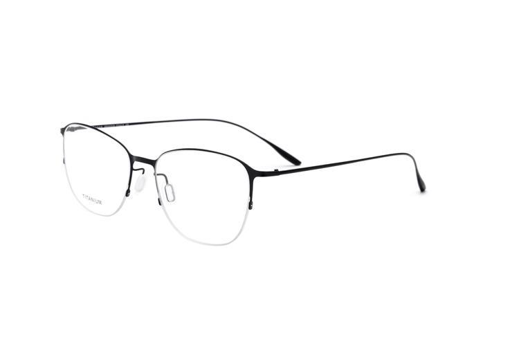 8e7d429fae9 100% Real Titanium Ultralight Vintage Square Glasses Half Frame ...