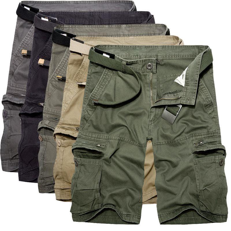 Pocket Casual Shorts 2018 Vert Summer Bermuda Loose Coon Hommes Multi Homme Pantalons Mens Cargo Armée NPkX8n0wO