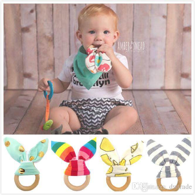 حار بيع الطفل عضاضة حلقة خشبية الطفل الأضراس تدريب الطفل لعبة الرضع ناحية خشخيشات الوليد بابيس هدية تمارين اللعب بتأثيرات الألوان