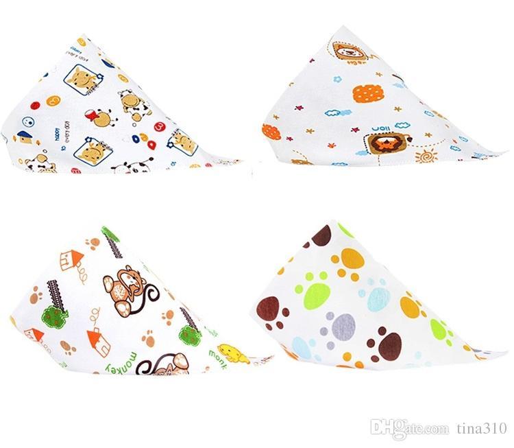 Yeni Bebek Önlükler Havlu Üçgen Burp Tükürük Bezleri karikatür Bebek Yürüyor Bandana Eşarp Çift Katmanlar Çocuklar Hemşirelik Önlükler I153