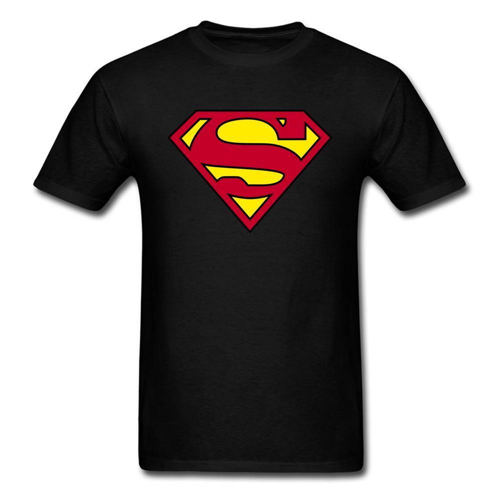 cfdd37ddfb3 Here Comes Your Superman 2018 Mens Cool T Shirt Black Red Yellow Tops Hero  Logo Custom Men T Shirt Funny Streetwear Tourist Shirt Fun Tee From  Customtshirt