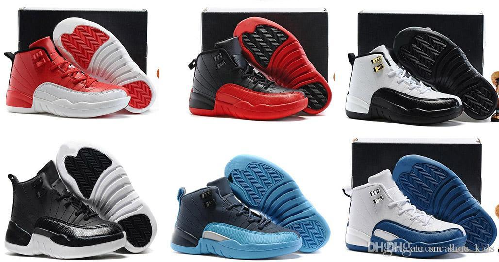 717373f5e9e7 New 12 Baby Basketball Shoes Children 12s High Quality Sports Shoes Youth  Boy Girl Basketball Sneakers Online Sale EU28 35 Boys Wide Athletic Shoes  Boys ...