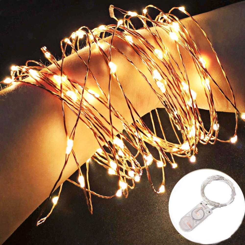 dac0432099e Compre 2M LED 20 Luces De La Secuencia Del Alambre LED Con Pilas Garland  Fairy Mini Copper Para El Banquete De Boda Del Día De Fiesta De La Navidad  A  51.95 ...