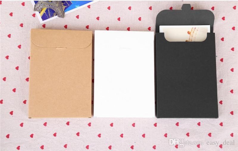 15.5 * 10.8 * 1.5 cm Kartpostallar Zarflar Boş Kartpostallar ambalaj Kutuları, boş Tebrik kartı ambalaj karton kutu LZ0742