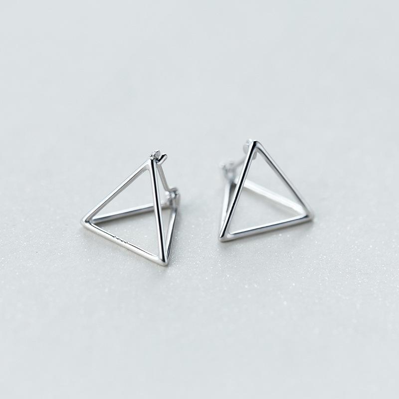cdb3b936d Compre 1 Par Real. 925 Joyas De Plata Esterlina 3D Triángulo Pendientes  Niñas Regalo Geométrico Joyas GTLE1230 Y1892905 A $18.56 Del Zhengrui02 |  DHgate.Com