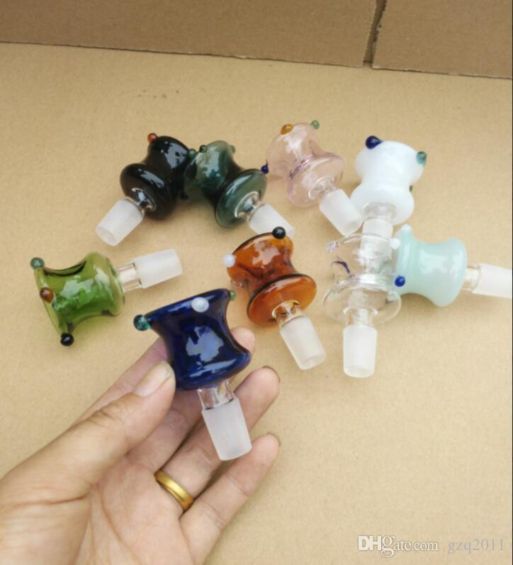 Farbiger neuer Blasenkanonenkopf, Großhandelsglaspfeifenzubehör, Glaswasserpfeife-Rauchen, freies Verschiffen