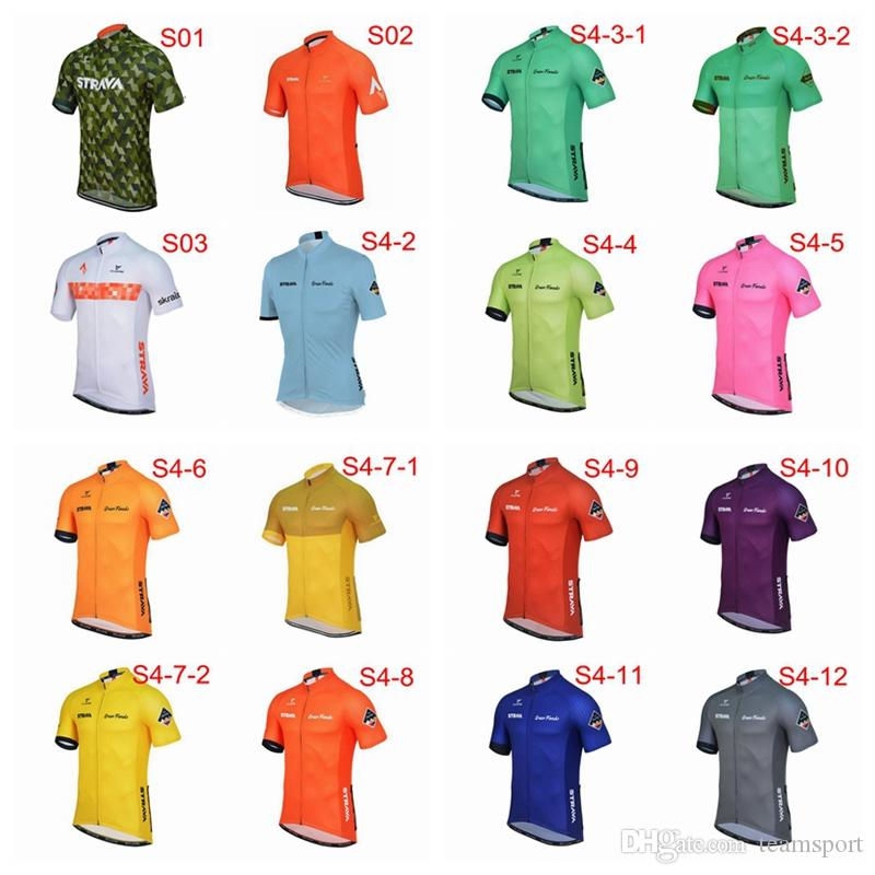 e06630b3c STRAVA Team Cycling Jersey Short Sleeves Hot Sale Men Hot Sale Breathable  Fast Dry Mountain Bike Clothing Cycling Jerseys S91501 Shirts Online Women  Shirts ...