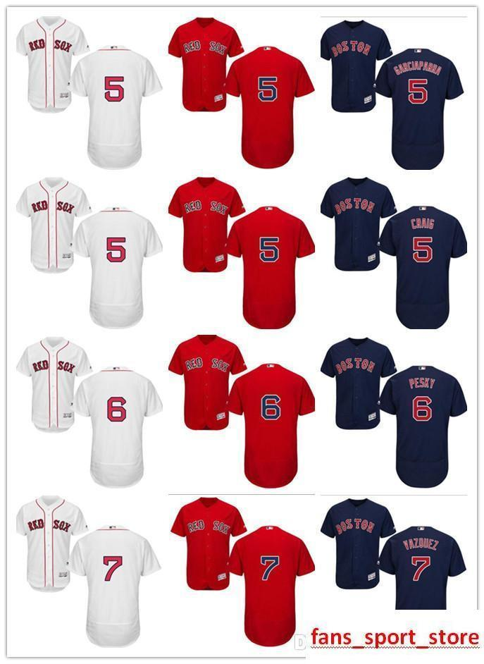 2019 2019 Custom Men S Women Youth Majestic Red Sox Jersey  5 Allen Craig 5  Nomar Garciaparra 7 Christian Vazquez 6 Johnny Pesky Baseball Je From  Mengyichen ... 9cc4c73c3ee