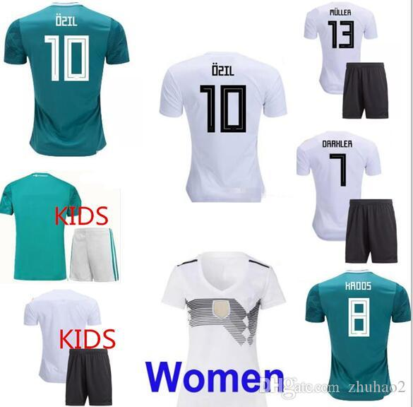 0784502e39c 2019 Thai Quality 2018 World Cup National Team Soccer Sets OZIL MULLER  GOTZE KROOS REUS Football Kit GerMANy Home Away Soccer Set Adults From  Zhuhao2