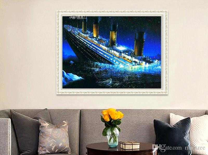 2018 Full Drill 5d Diamond Painting Titanic Arts Craft For Home Wall ...