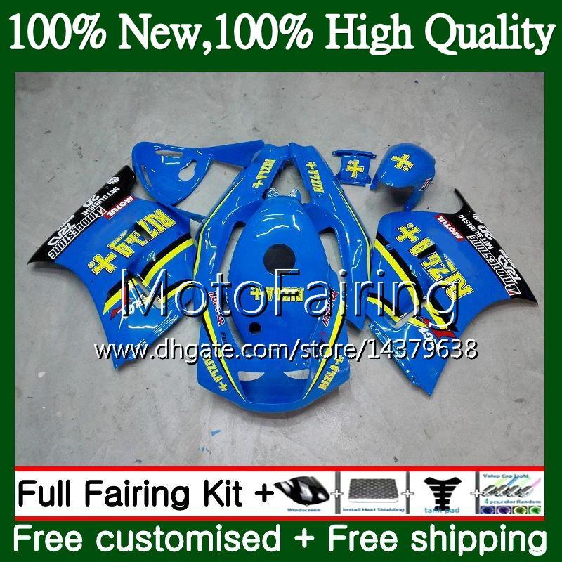 Carrozzeria per SUZUKI RIZLA blu RGV250 VJ23 97-98 RGV 250 97 98 Carrozzeria 39MF3 RGV-250 VJ 23 Cowling RGV250 1997 1998 Carena Kit carrozzeria Nuovo