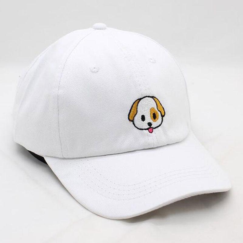 Cute Puppy Dog Embroidery Women s Baseball Cap Adjustable Low Profile Hat  Pink White Black Richardson Caps Customized Hats From Shanjumou 20645ecd9