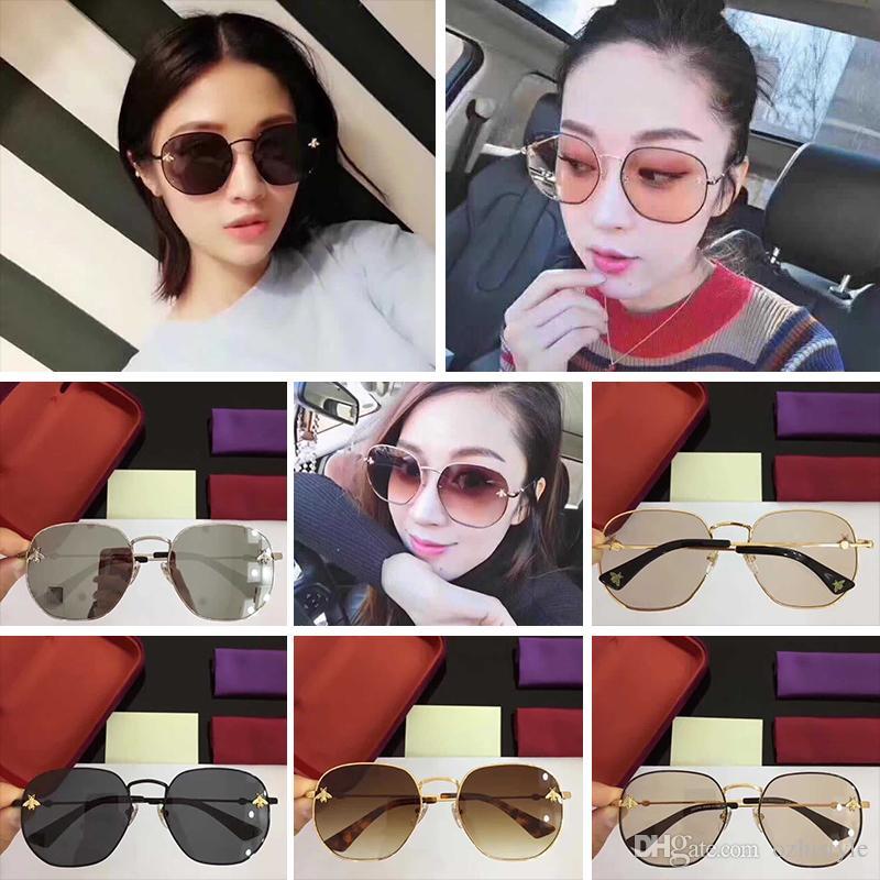 Großhandel Mode Gg2289 Gucci Gold Grau Schattiert Sonnenbrille 61mm ...