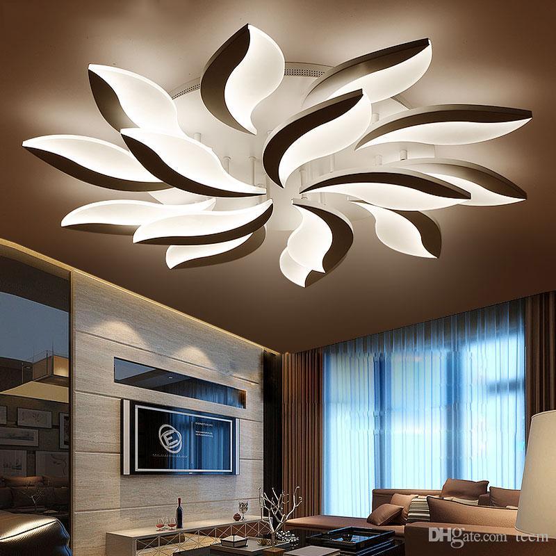 Moderne platz led deckenleuchten wohnzimmer schlafzimmer led-lampen ...