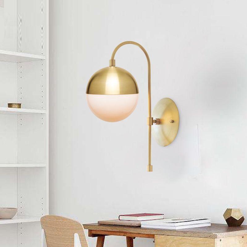 huge discount 630aa 9c0a5 Nordic Copper Wall Lamp Modern Bedroom Led Light Glass Wall Sconce Bathroom  Mirror Light Living Room makeup vanity lights Bedside Wall Light