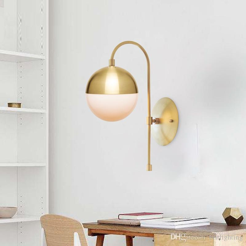 Grosshandel Nordic Kupfer Wandleuchte Moderne Schlafzimmer Led Licht