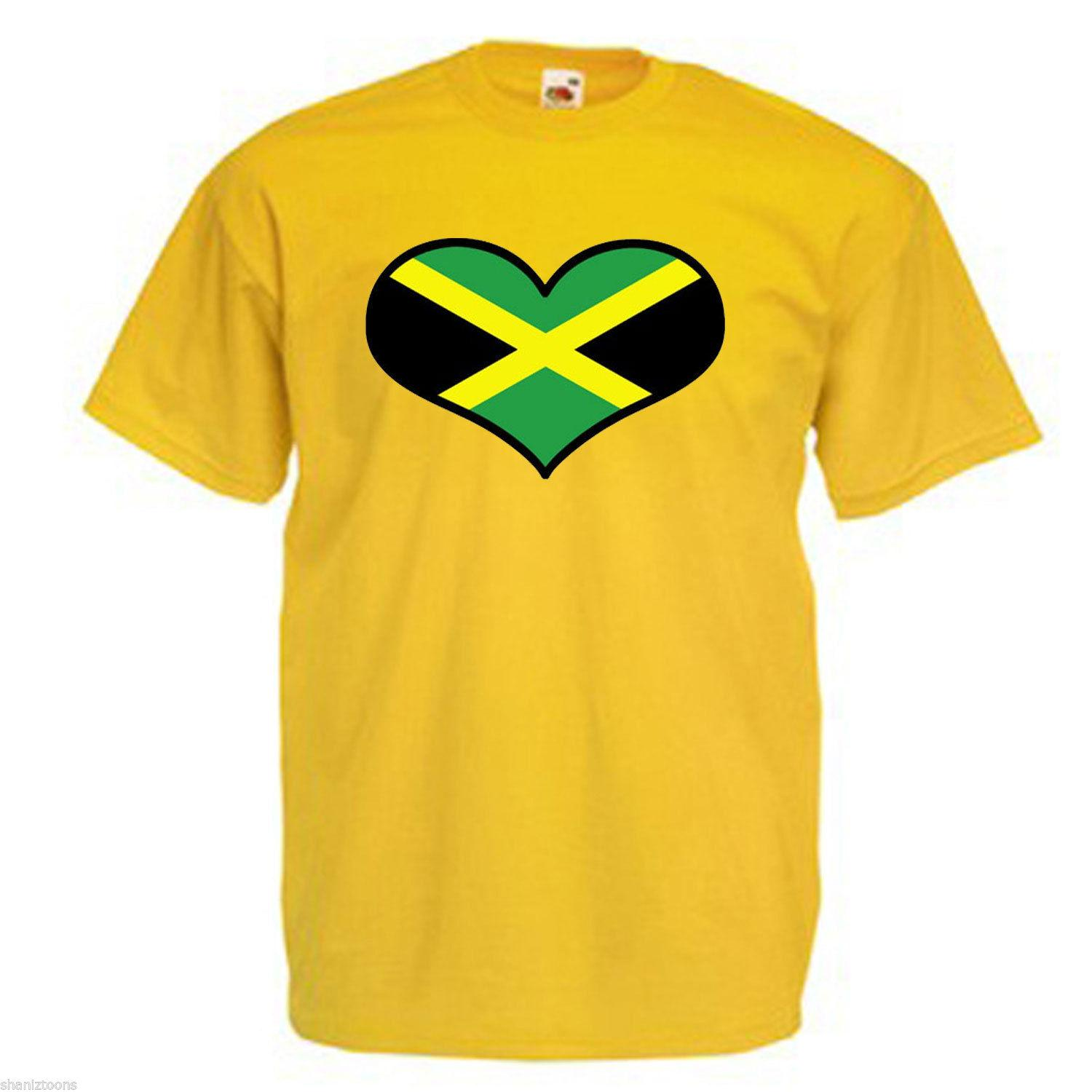 Jamaica love heart flag adults mens t shirt 12 colours size s 3xl funny unisex casual t shirts sites shirt tees from britwear 12 96 dhgate com