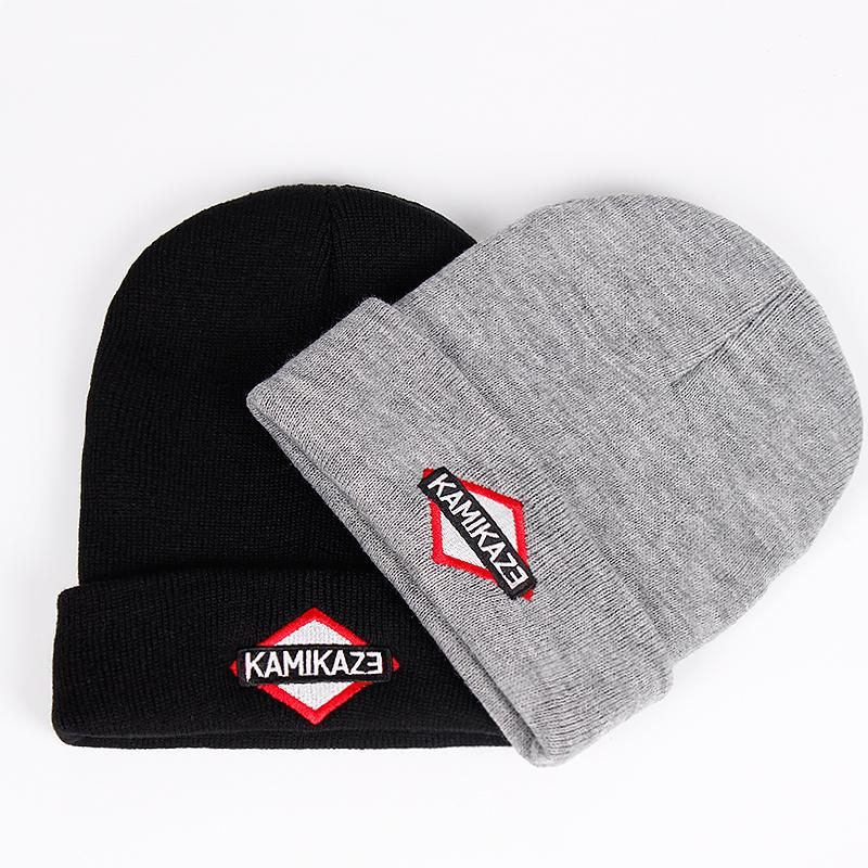 12909e80408 2019 Kamikaze Knitted Hat Eminem Latest Album Hats Elastic Brand KAMIKAZE  Embroidery Beanie Winter Warm Skullies   Beanies Ski Cap From Stem