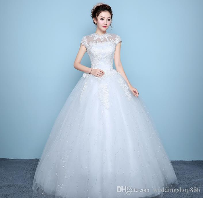 Country Wedding Dress Vestido De Noiva Scoop Neck A Line Wedding ...