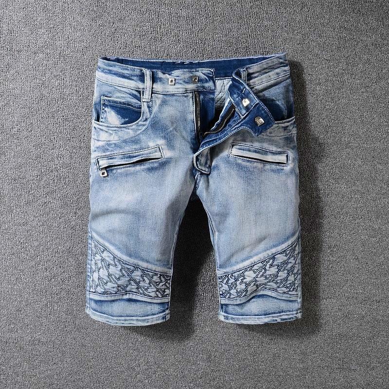 03715d65043 2019 On Sale Fashion Mens Jeans Shorts Motorcycle Biker Jeans Rock Revival  Short Pants Skinny Slim Ripped Hole Men S Denim Shorts Designer From  Xingwang6688 ...