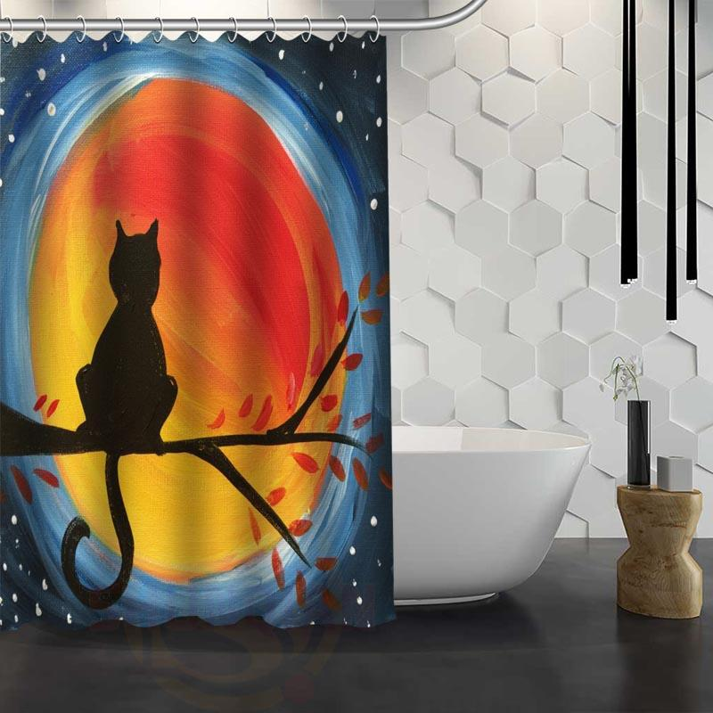 Online Cheap Hot Sale Custom Cat Painting Shower Curtain Waterproof ...