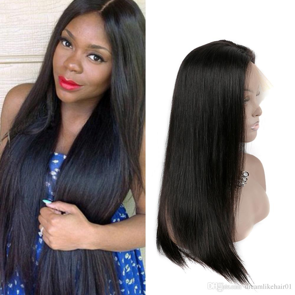 Hot Selling Straight Human Hair Wigs For Black Women Lace Front Wigs Pre  Plucked With Baby Hair Glueless Swiss Lace Front Wigs Sexy Wigs Real Human  Hair ... 0531931ec1