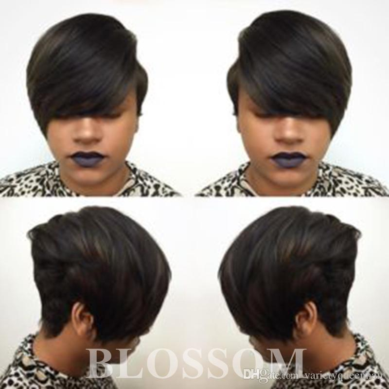 Short Wigs Rihanna Pixie Cut Short Hair Style Cuts Brazilian Human Short  Bob Wig With Baby Hair Lace Front Wig For Black Women Red Hair Wig Lace Wigs  On ... 0f161e298