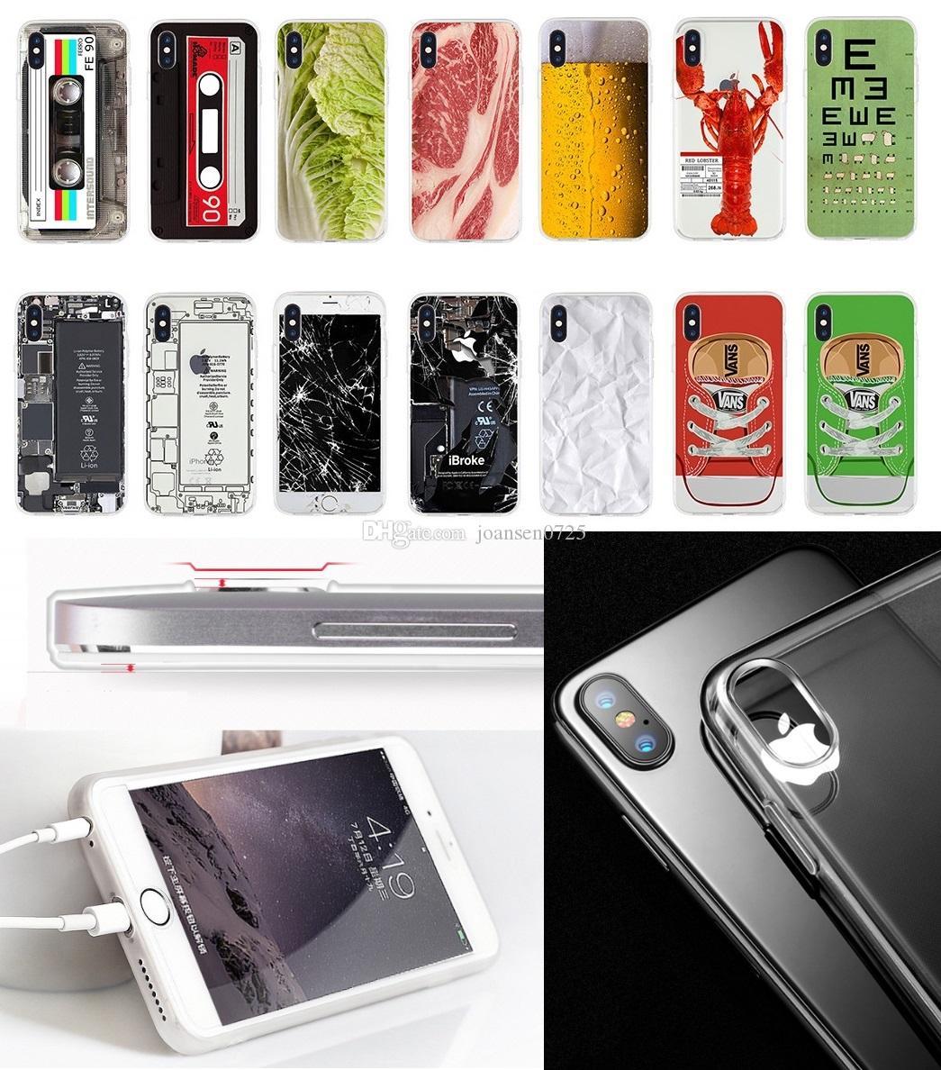 5fb0be4be14 Personalizar Carcasa Para Apple IPhone 6S 8 7 Más X 5S Samsung Galaxy S7  Edge S8 S9 Plus Nota 8 TPU Suave Camuflaje Creativo Pintado De Silicona ...