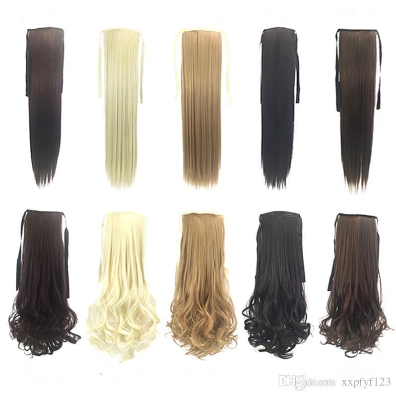 Hot Sale Synthetic Ponytails Clip In On Hair Extensions Pony Tail