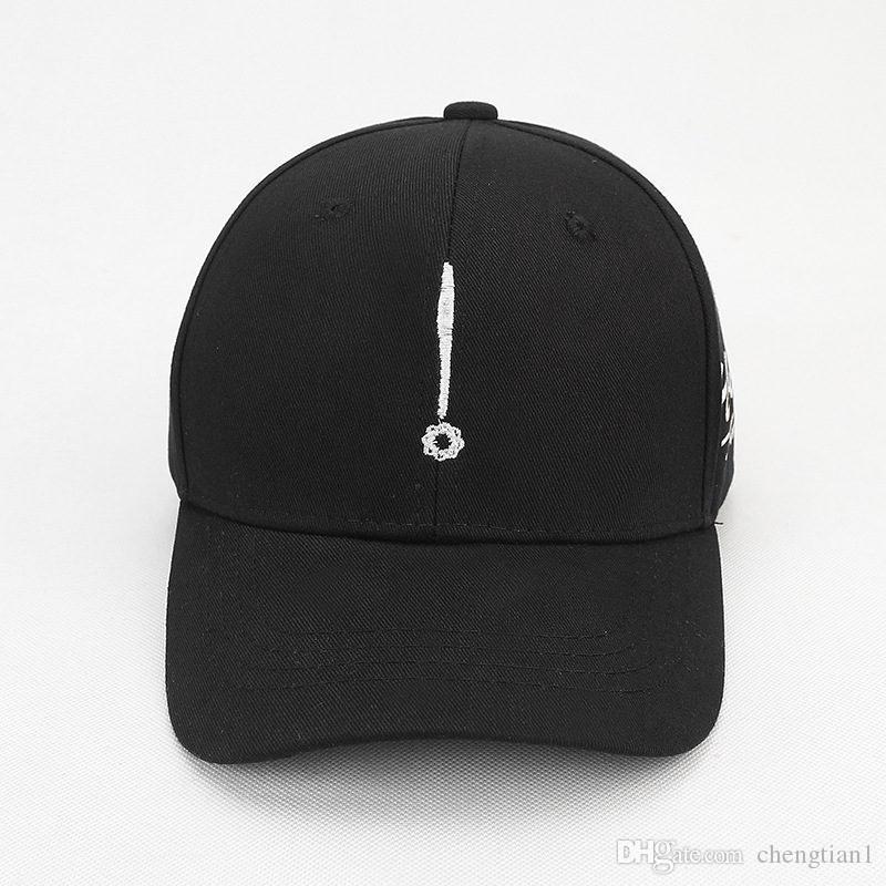 37b15a4ffc5 2018 Geometric Symbol Embroidery Cotton Casquette Baseball Cap ...