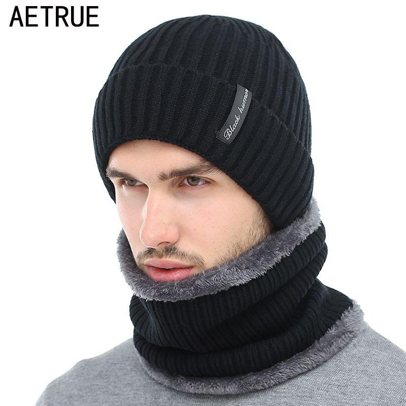 f9adc3d0dfe AETRUE Winter Beanies Men Scarf Knitted Hat Caps Mask Gorras Bonnet Warm  Baggy Winter Hats For Men Women Skullies Beanies Hats S1020 Beanie Hat Sun  Hats ...