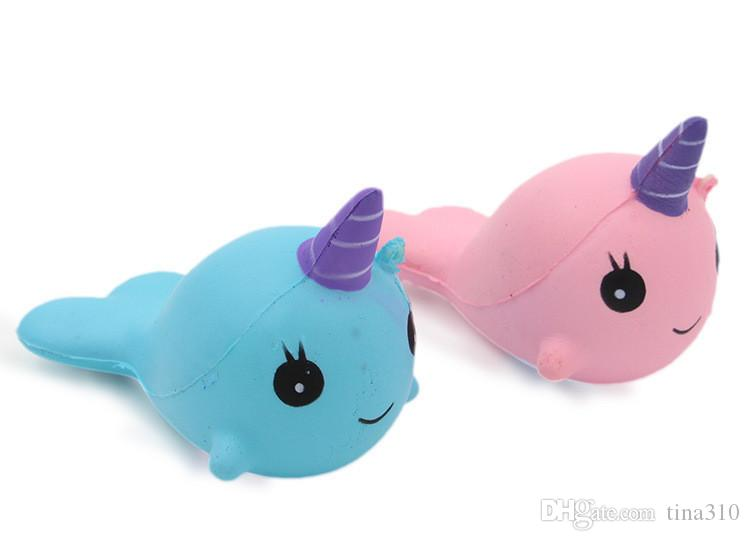New lovely Cartoon Pendant PU Slow rebound simulation Whale toys Kid Decompression Toys T3I0088
