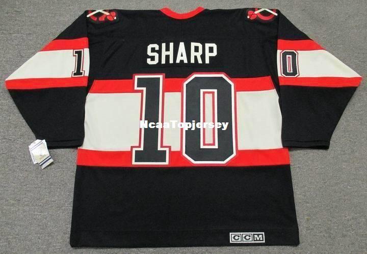 Custom Mens Jerseys PATRICK SHARP Chicago Blackhawks 1930 s CCM ... 292542492