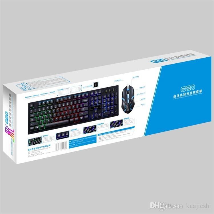 Combinaison clé souris suspension chapeau clé Combinaisons de souris et de souris Type de combinaison câblée Connectez-vous à l'ordinateur, à la souris ou au clavier.