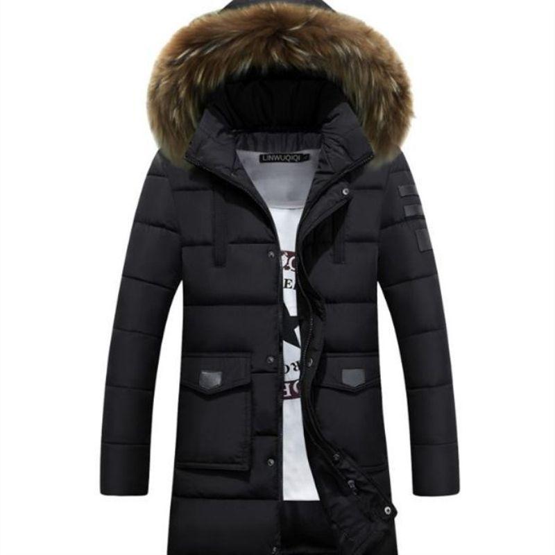 Winterjacke Männer Wintermänner Jacke Parka Männer Warm Vsste Homme Hiver Mantelmänner Lange Männer Jacken Baumwolle Gepolstert Gut Warm