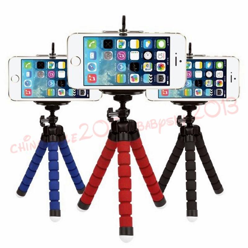 مصغرة حامل الهاتف مرنة حامل الهاتف الأخطبوط ترايبود قوس حامل جبل monopod لسامسونج HTC