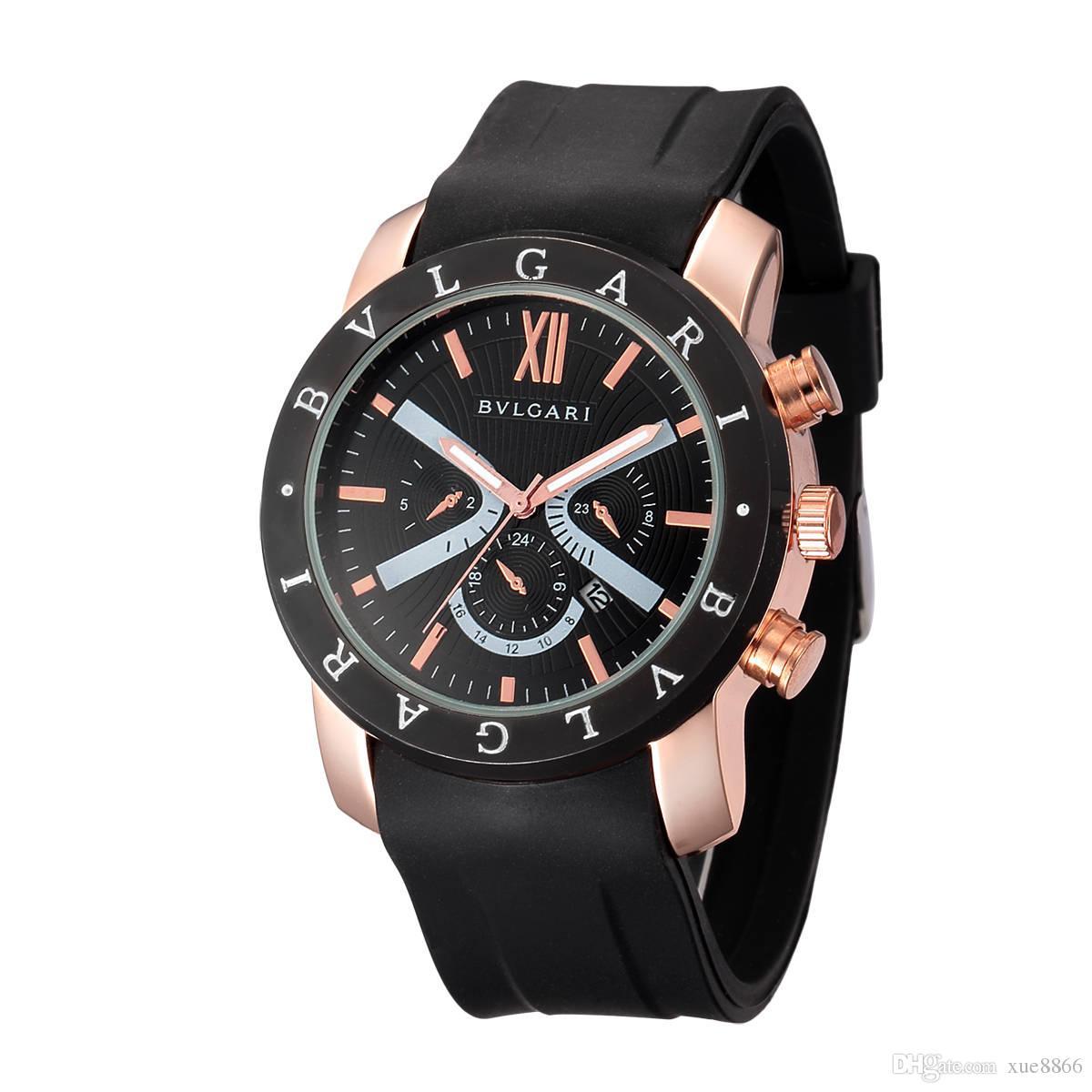 e86c4be8fe0 Compre BV Marca De Luxo Homens   Mulheres Moda Casual Relógio De Pulso  Sílica Gel Strap Movimento De Quartzo Melhor Relógio Presente Relógio Dw  Qualidade ...