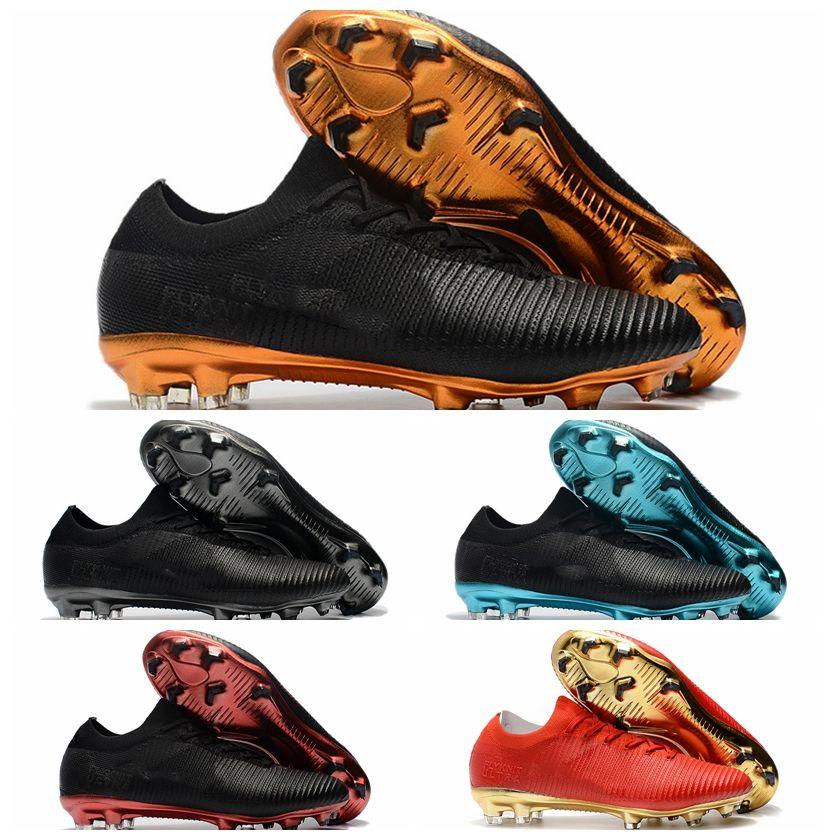 d4b3e6b95 2019 2018 Cheap Soccer Cleats Mercurial Vapor Ultra FG Original Football  Boots Mens Soccer Shoes Botas De Futbol Ultra Boost Black Gold Blue New  From ...