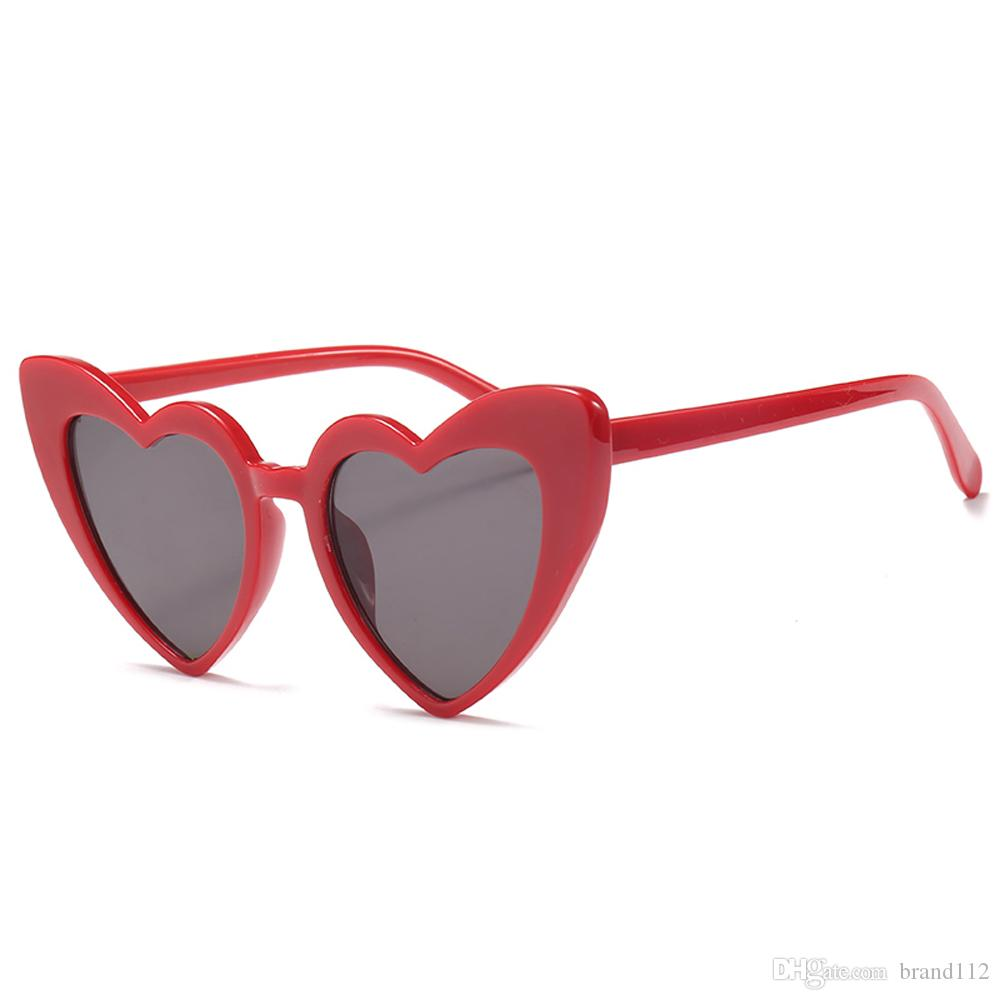 4997427976 2018 Love Heart Sunglasses Women Cat Eye Vintage Christmas Gift Black Pink  Red Heart Shape Sun Glasses For Women Uv400 Victoria Beckham Sunglasses ...