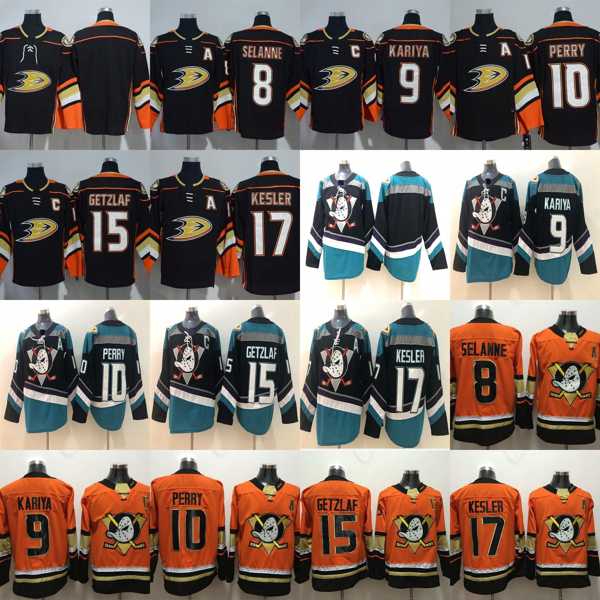 2019 Mighty Ducks Anaheim Hockey Jersey 9 Paul Kariya 8 Teemu Selanne 10  Corey Perry Ryan Getzlaf 17 Ryan Kesler Blank Anaheim Ducks Jerseys From  Probowl 77119a6ab