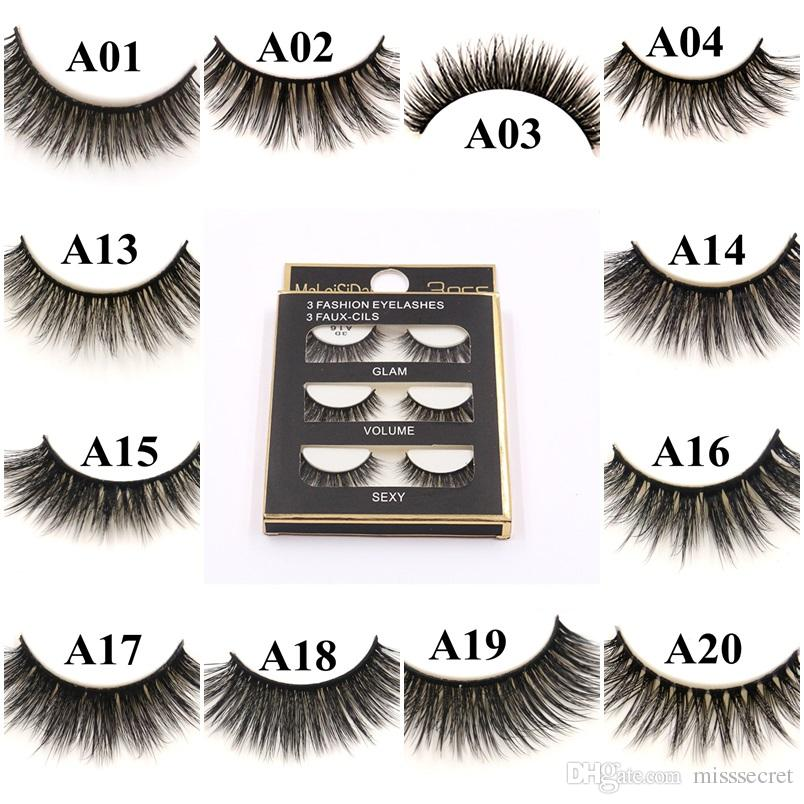 0df1819cc79 20 Styles 3D Mink Lashes 100% Handmade Natural False Mink Eyelashes Fake  Eye Lashes Eyelash Thick Long Extension Eye Beauty Makeup Tool Eyelash Tint  Lash ...