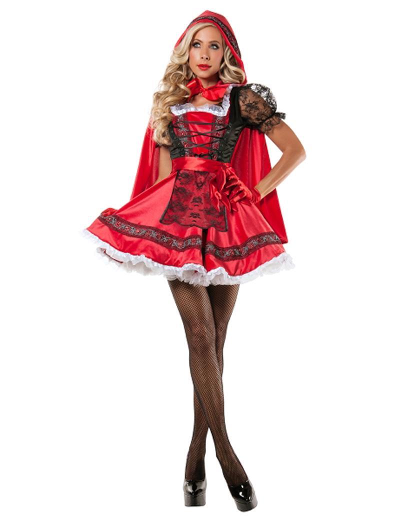 Acheter Costumes Alloween Pour Les Femmes MOONIGHT Costumes D Halloween Pour  Les Femmes Sexy Cosplay Petit Chaperon Rouge Fantaisie Uniformes De Jeu ... be76dec86b1